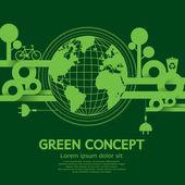 Illustrazione vettoriale verde concetto — Vettoriale Stock