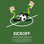 Kick Off Vector Illustration — Stock Vector