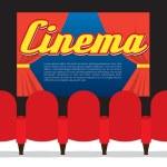 Cinema Seats In Front Of Screen — Stok Vektör