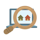Finding Real Estate Vector Illustration — Stock Vector