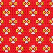 Hearts Pattern Vector — Stock Vector