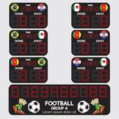 Scoreboard Football Tournament Vector Illustration — Stock Vector