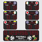 Fútbol marcador ilustración torneo vector — Vector de stock