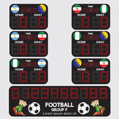 Scoreboard Football Tournament Vector Illustration — Stock Vector