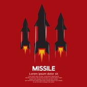 Missile Vector Illustration — Stock Vector