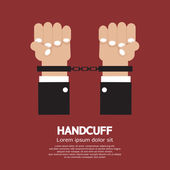 Handcuff Vector Illustration — Stok Vektör