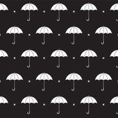 Black and White Umbrella Pattern — Stock Vector