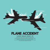 Plane Accident Vector Illustration — Stok Vektör