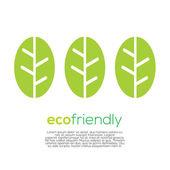 Eco-Friendly Concept Vector — Stok Vektör