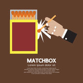 Matchbox Container Vector Illustration — Vector de stock
