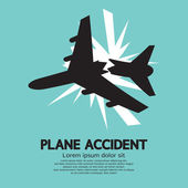 Plane Accident Vector Illustration — Vetorial Stock