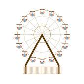 Ferris Wheel Vector Illustration — Stock Vector