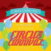 Circus Carnival Poster Template — Stock Vector