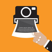 Vintage Camera Vector Illustration — Stock Vector