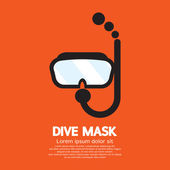 Dive Mask Vector Illustration — Stock Vector