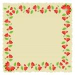 Floral Frame Vector Illustration — Stock Vector