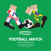 Football Match Vector Illustration — ストックベクタ