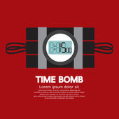 Time Bomb Vector Illustration — Stock Vector