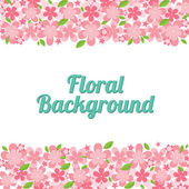 Ilustración de fondo floral vector — Vector de stock
