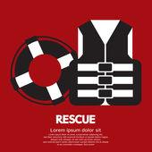 Rescue Item Vector Illustration — Vector de stock