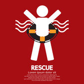 Rescue Vector Illustration — Vector de stock