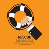 Rescue Vector Illustration — Stock Vector