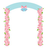 Flowers Arch Vector Illustration — Stock Vector