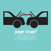 Jump Start Vector Illustration — Stock Vector