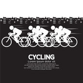Cycling Vector Illustration — Vector de stock