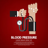 Blood Pressure Vector Illustration — Stock Vector