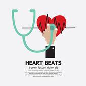 Heart Beats Vector Illustration — Stock Vector