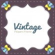 Vintage Flowers Border — Stock Vector
