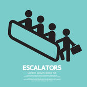 Escalators Vector Illustration — Vettoriale Stock