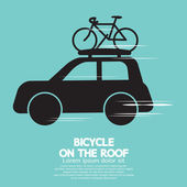 Bicycle On The Roof — Stock Vector