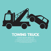 Car Towing Truck Vector Illustration — Stock Vector