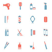 Hairdressing Icons Set  — Stock Vector