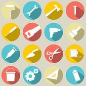 Conjunto de trabajo iconos de herramientas 16 — Vector de stock