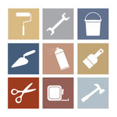 Working Tools Icons Set 9 — Stock Vector