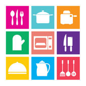 Utensils Icons set 9 — Stockvektor