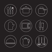 Utensils Icons set 9 — Stock Vector