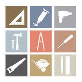 Working Tools Icons Set  — Vector de stock