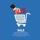 Sale 50 Percent Concept Vector Illustration — Stock Vector