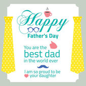 Happy Father's Day Vector Illustration   — Vector de stock