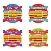 Hamburger Label Set — Stock Vector