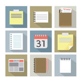Office Document Icons — Stock Vector