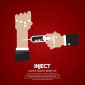 Inject Vector Illustration — Stok Vektör