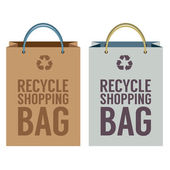 Recycle Paper Bag Vector Illustration — Vector de stock