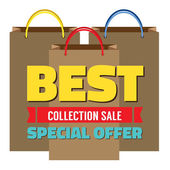 Best Collection Sale Vector Illustration — Wektor stockowy