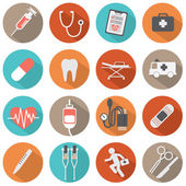 Flat Design Medical icons — Stock Vector