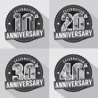 Set of Anniversary Celebration Design — Stock Vector #46517491
